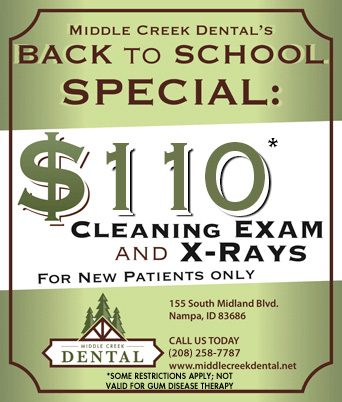 Middle Creek Dental Promotion Coupon