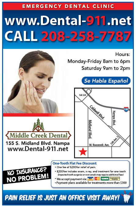 Emergency Dental Services offered at Middle Creek Dental